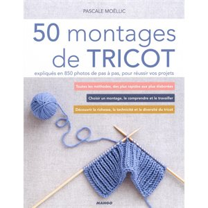 Livre - 50 montages de Tricot - Mango