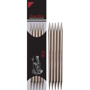 Aiguille Double Pointes Stainless 6'' (15cm)