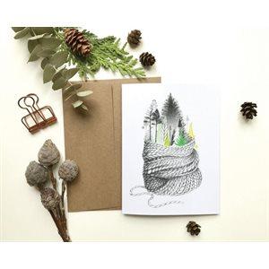 Carte de Souhait - La forêt réconfortante