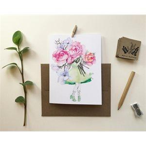 Carte de Souhait - Fleuriste magnolia