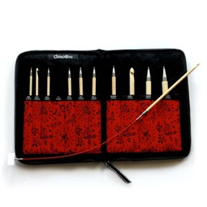 Complet Tunisian Interchangeable Crochet Hook Kit Bamboo